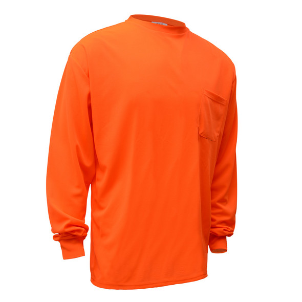 GSS Non-ANSI Hi Vis Orange Long Sleeve T-Shirt 5504 Right Side
