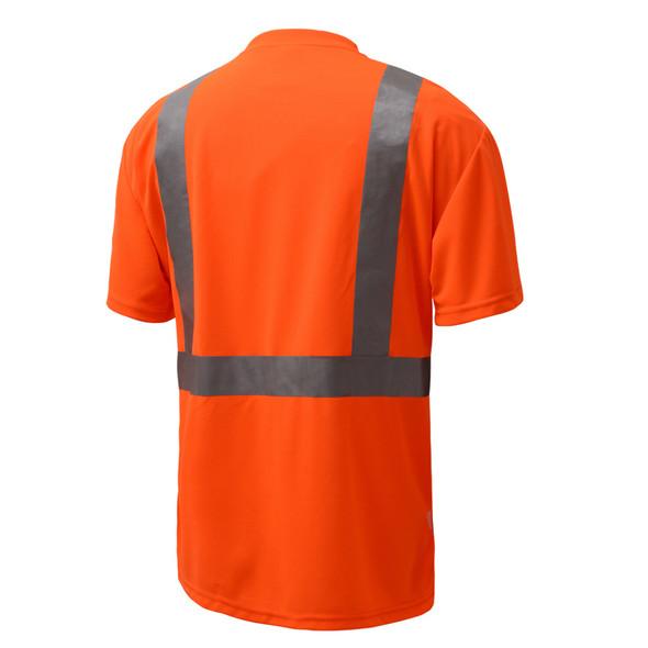 GSS Class 2 Hi Vis Orange Black Bottom T-Shirt 5112 Back