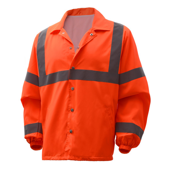 GSS Class 3 Hi Vis Orange Economy Windbreaker 7502 Right Side