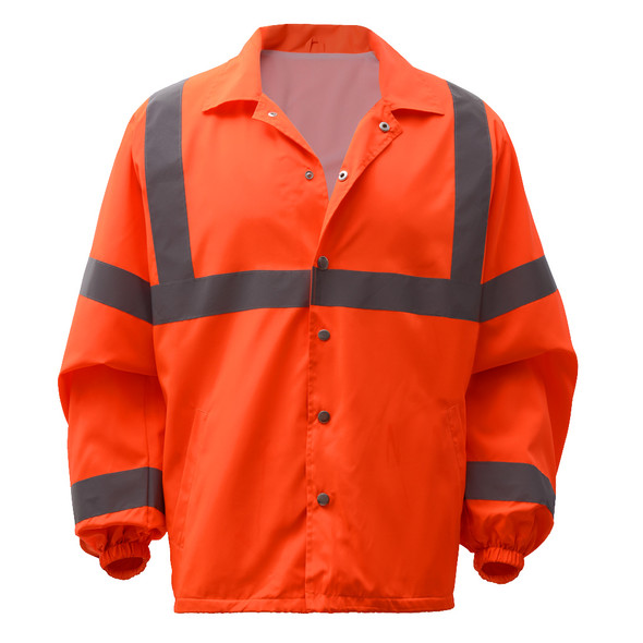 GSS Class 3 Hi Vis Orange Economy Windbreaker 7502 Front