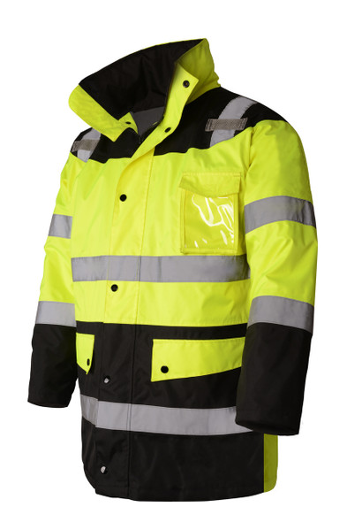 GSS Class 3 Hi Vis Winter Parka with Black Bottom 8501 Right Side