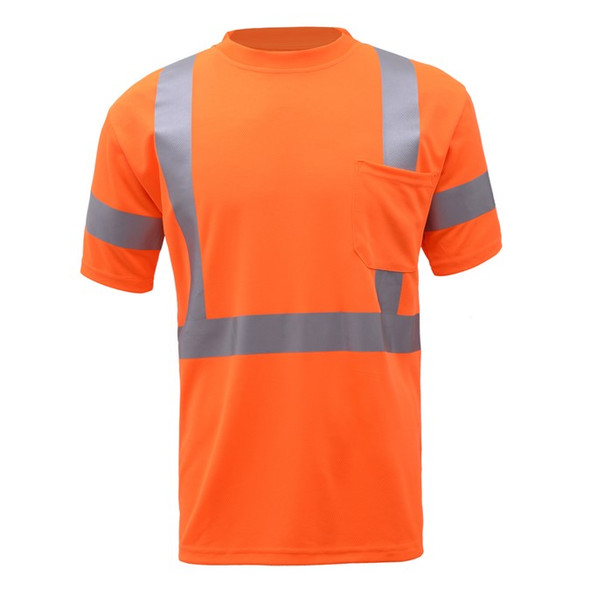 GSS Class 3 Hi Vis Orange Short Sleeve T-Shirt 5008