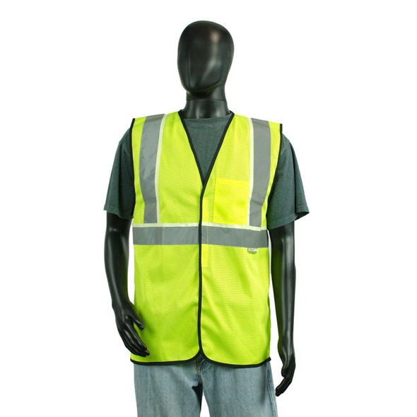 Alpha Workwear Class 2 Hi Vis Illuminating Safety Vest Glow A200 Front