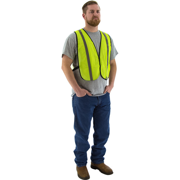 Majestic Case of 50 Non ANSI Hi Vis Yellow Mesh Safety Vest 75-3003