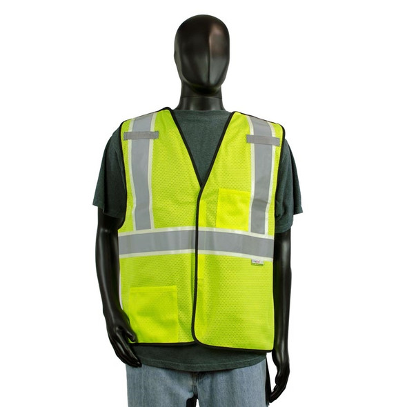 Alpha Workwear Class 2 Hi Vis Glow in the Dark Breakaway Vest A203 Front