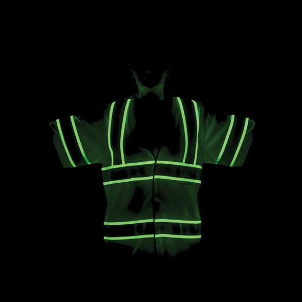 Alpha Workwear Class 3 Hi Vis Illuminated Glow in the Dark Safety Vest A220 Illuminated