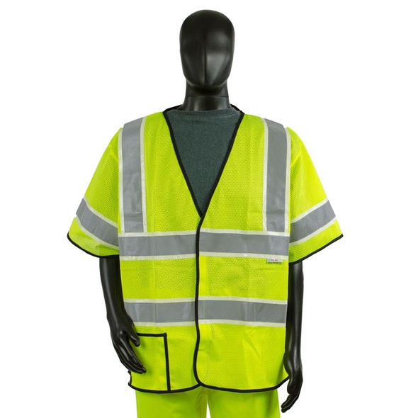 Alpha Workwear Class 3 Hi Vis Illuminated Glow in the Dark Safety Vest A220 Front