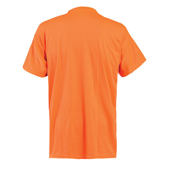 Occunomix Non-ANSI Hi Vis Moisture Wicking T-Shirt 30 UPF Protection LUX-XSSPB Orange Back