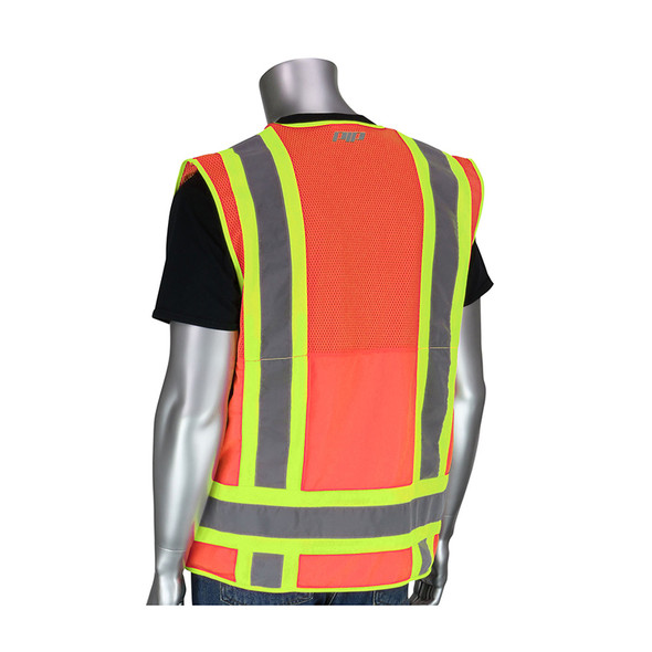 PIP Class 2 Hi Vis Two-Tone 10 Pocket Surveyors Vest 302-0700