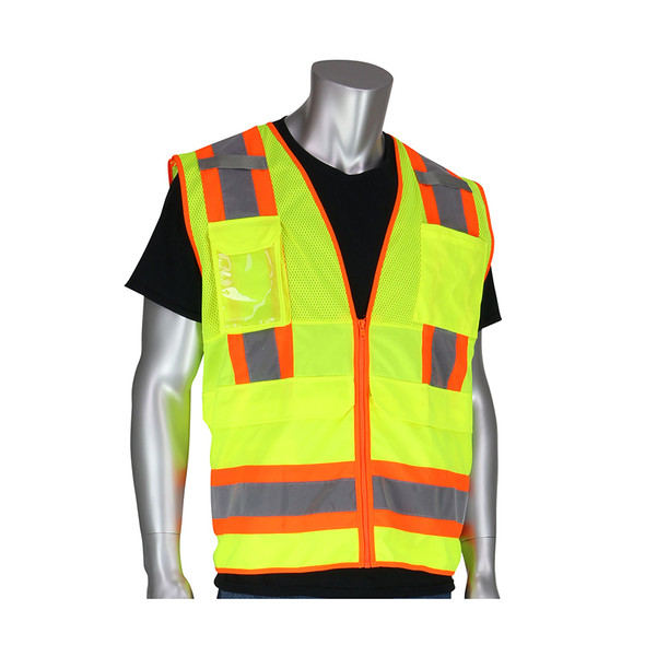 PIP Class 2 Hi Vis Two-Tone 10 Pocket Surveyor 302-0700