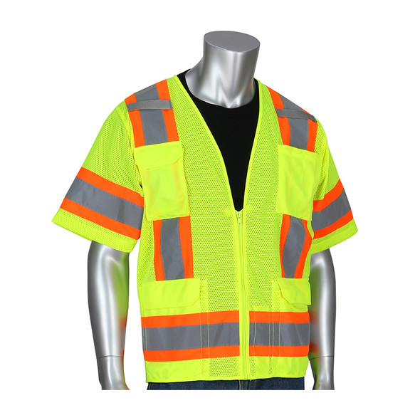 PIP Class 3 Hi Vis Two-Tone 11 Pocket Mesh Vest 303-0500M