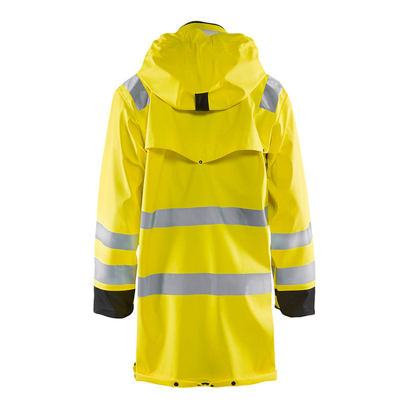 Blaklader Class 3 Hi Vis Yellow Rain Jacket 431620033399 Back