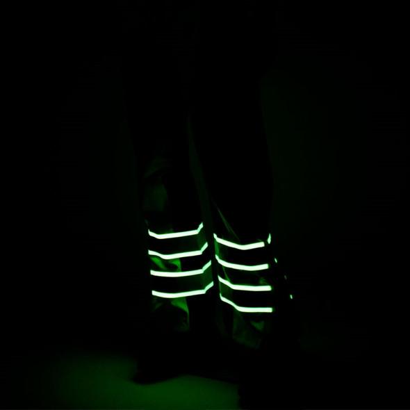 Alpha Workwear Class E Hi Vis Glow in Dark Illuminated Rain Pants A266 Illuminated