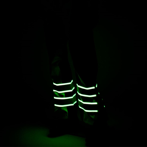 Alpha Workwear Class E Hi Vis Glow in Dark Illuminated Rain Pants A266 Illuminated
