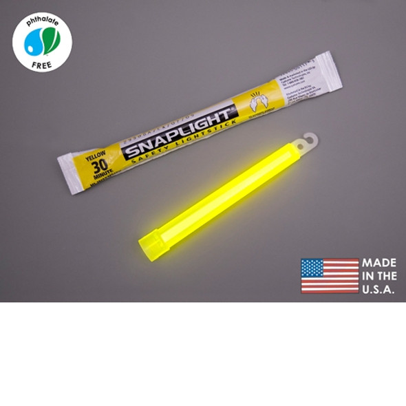 Cyalume Box of 100 Yellow Glow Sticks 9-08087