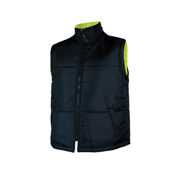 Work King Safety Class 3 Hi Vis X-Back Black Bottom Trim 5-in-1 Jacket S426 Reversed Vest