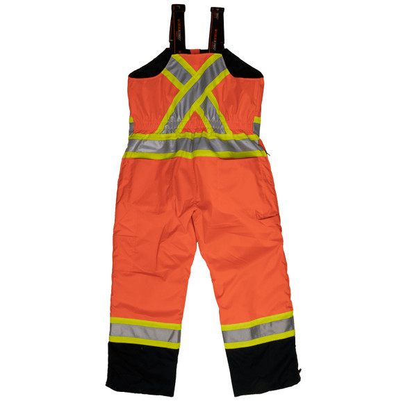 Work King Safety Class E Hi Vis Two-Tone X-Back Lined Overalls S798FLOR Fluorescent Orange Back