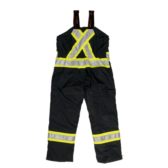 Work King Safety Type E Enhanced Vis Black Two-Tone X-Back Lined Overalls S798-BLK Back