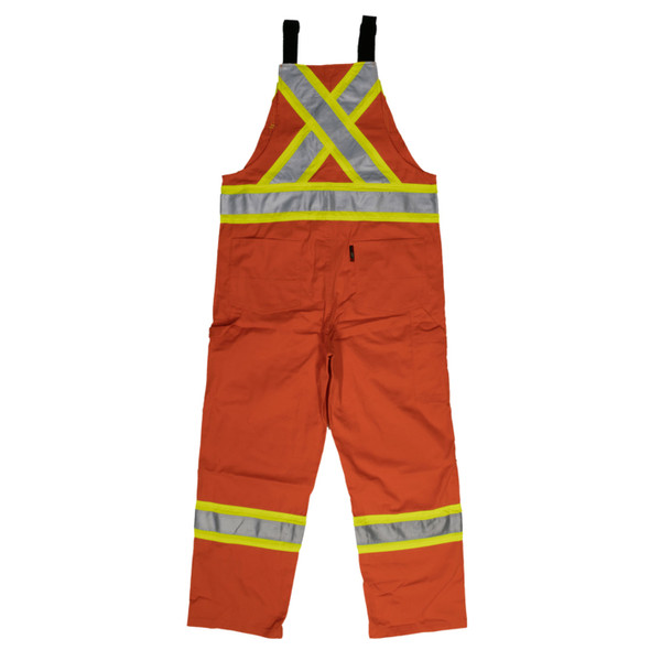 Work King Safety Class 1 Enhanced Vis Orange Two-Tone X-Back Overalls S769 Back