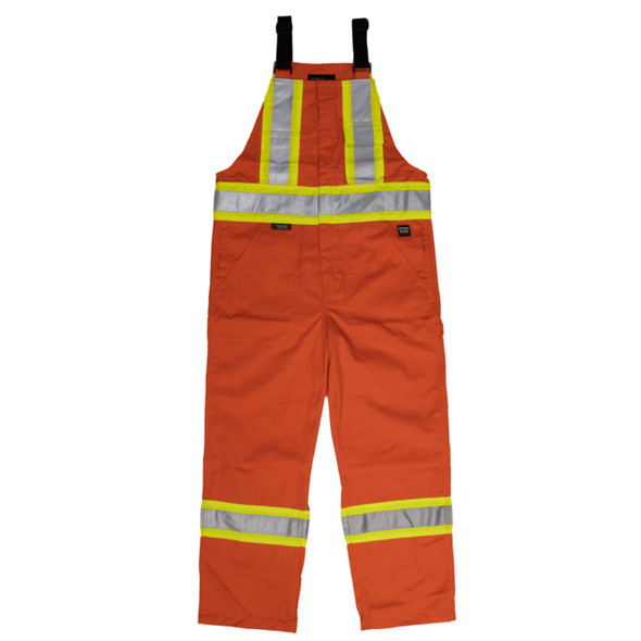 Work King Safety Class 1 Enhanced Vis Orange Two-Tone X-Back Overalls S769 Front