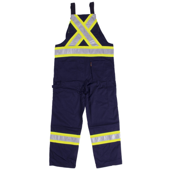 Work King Safety Class 1 Enhanced Vis Navy Two-Tone X-Back Overalls S769-NVY Back
