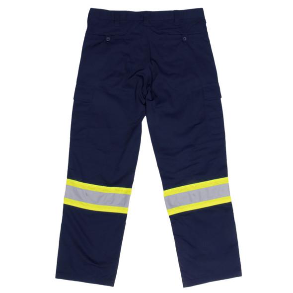 Work King Safety Class E Enhanced Vis Navy Work Pants S607 Back