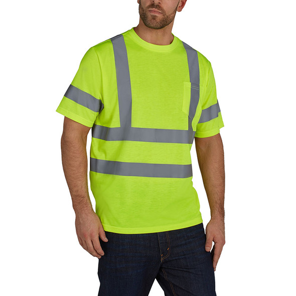 Utility Pro Class 3 Hi Vis Yellow T-Shirt with Pocket UHV302