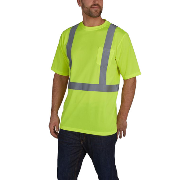 Utility Pro Class 2 Hi Vis Yellow Moisture Wicking T-Shirt UHV303 Front