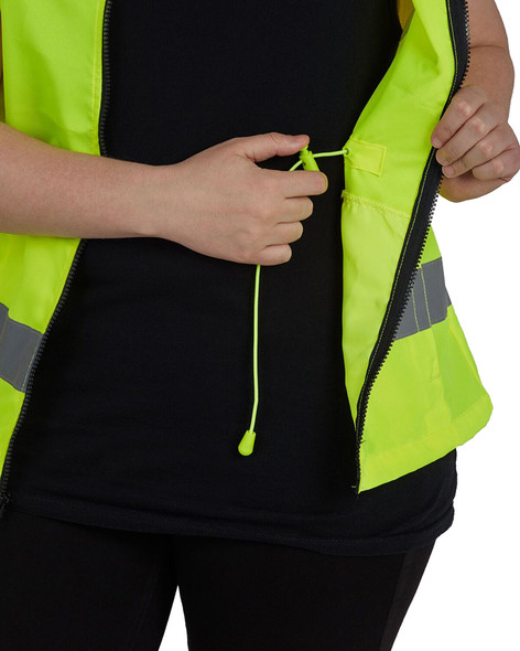 Utility Pro Class 2 Hi Vis Yellow Adjustable Ladies Vest with Teflon Protector UHV662 Adjustment
