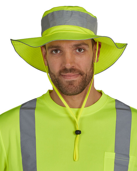 Utility Pro Hi Vis Yellow Bucket Hat with Perimeter Insect Guard and SPF 35 UHV503