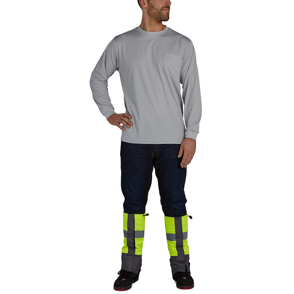 Utility Pro Non-ANSI Hi Vis Leg Gaiters with Perimeter Insect Guard and Teflon Protector UHV888