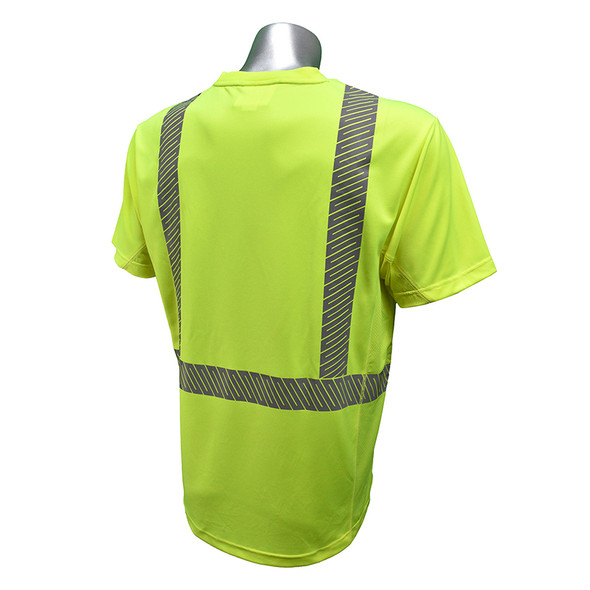 Radians Class 2 Hi Vis Green RADCOOL T-Shirt with Segmented Tape ST31-2PGS Back