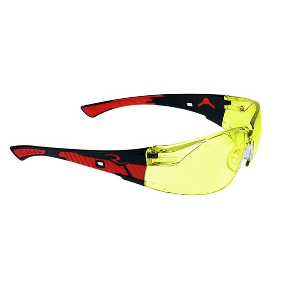 Radians Box of 12 Obliterator Amber Lens Safety Glasses OBL1-40
