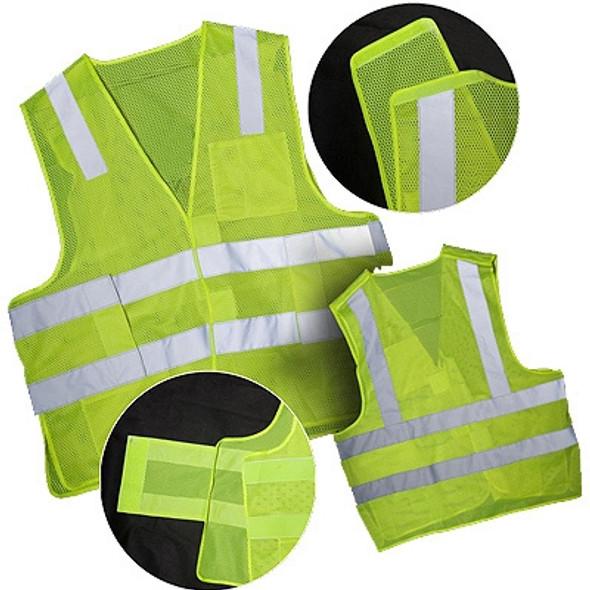 Macro Industries Class 2 Hi Vis Lime Break Away Mesh Safety Vest SV7000