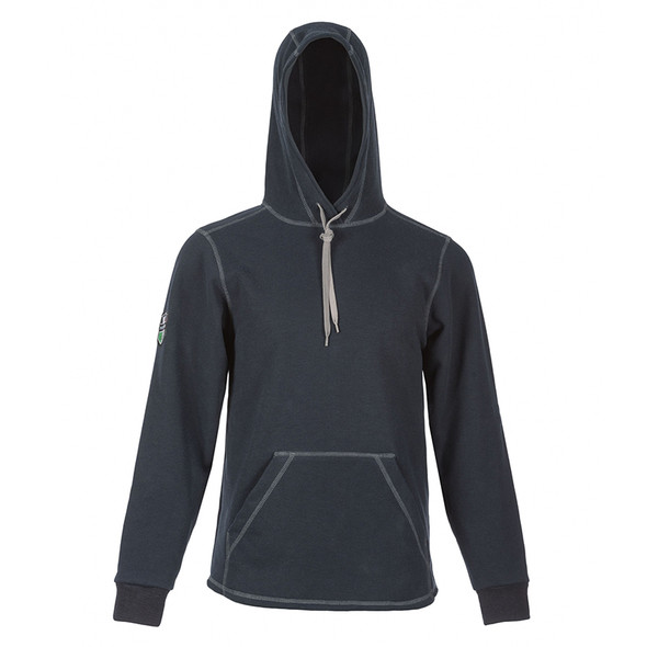 DragonWear FR Elements Cyclone Pull-Over Navy Made in USA Hoodie DFMC141 with Hood Up