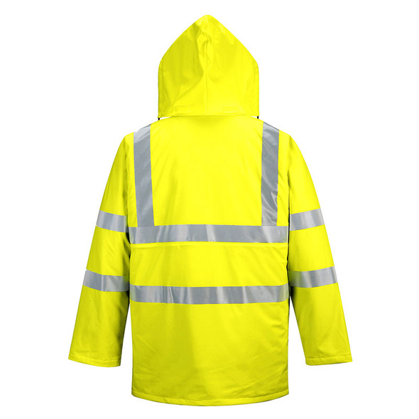 PortWest Class 3 Hi Vis Yellow Sealtex Ultra Lined Jacket US490 Back