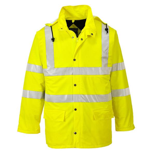 PortWest Class 3 Hi Vis Yellow Sealtex Ultra Lined Jacket US490 Front