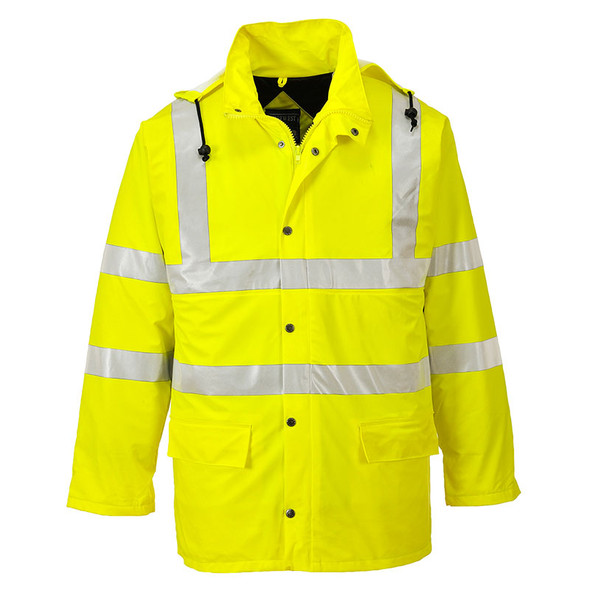 PortWest Class 3 Hi Vis Yellow Sealtex Ultra Lined Jacket US490 Front