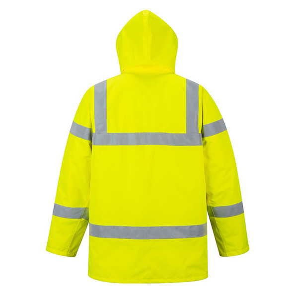 PortWest Class 3 Hi Vis Yellow Traffic Jacket US460 Back