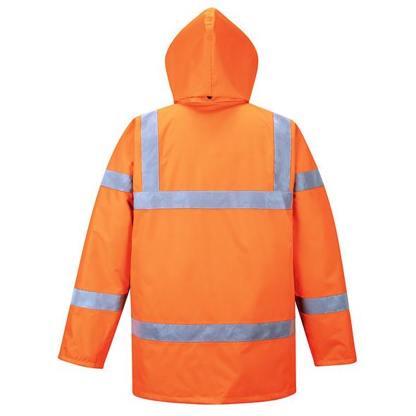 PortWest Class 3 Hi Vis Orange Traffic Jacket URT30 Orange Back