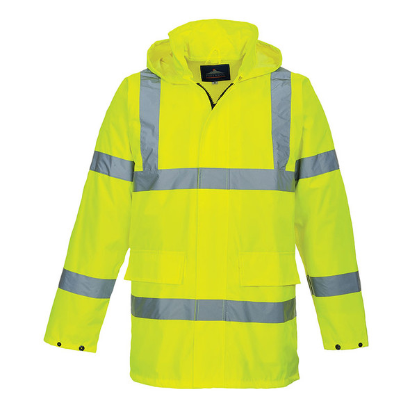 PortWest Class 3 Hi Vis Lite Traffic Jacket US160 Front