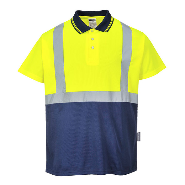 PortWest Class 1 Enhanced Visibility Polo Shirt S479 Front