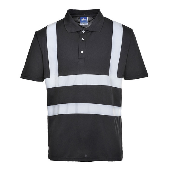 PortWest Enhanched Visibility Iona Polo Shirt F477 Black