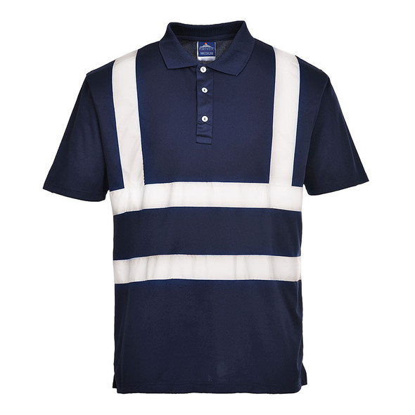 PortWest Enhanched Visibility Iona Polo Shirt F477 Navy