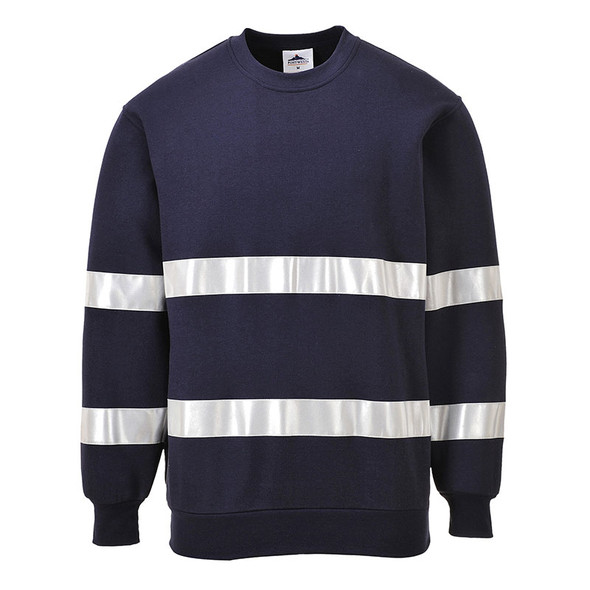PortWest Enhanced Visibility Iona Sweatshirt B307 Navy
