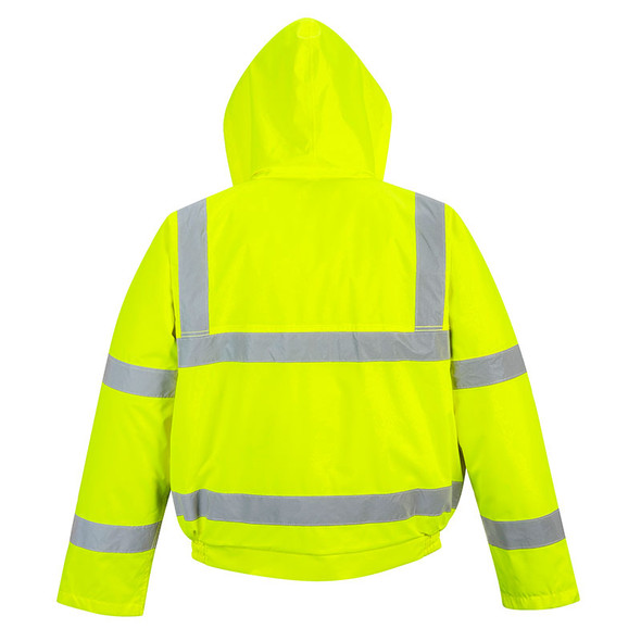 PortWest Class 3 Hi Vis Yellow Bomber Jacket US463 Back