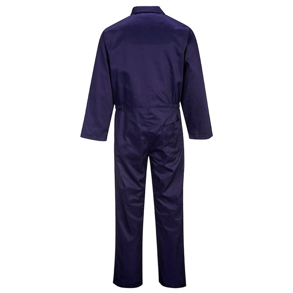 PortWest Polycotton Navy Unlined Coverall S999NA Back