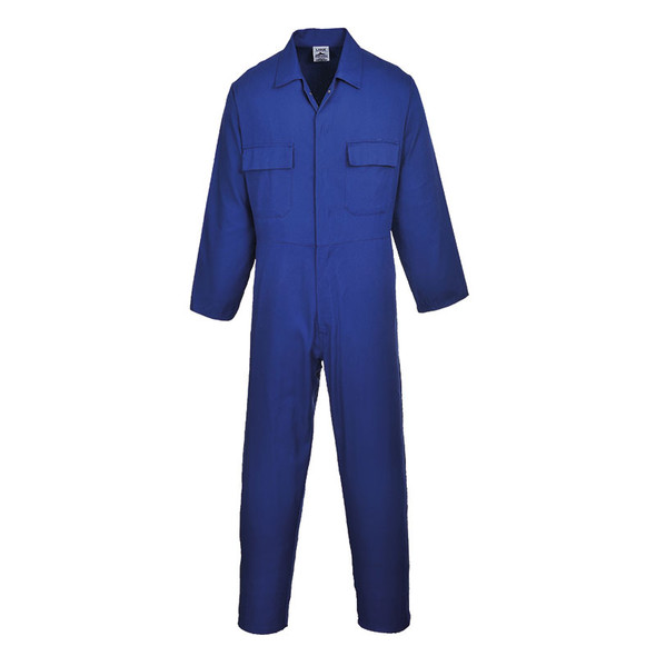 PortWest Polycotton Unlined Coverall S999 Royal Blue