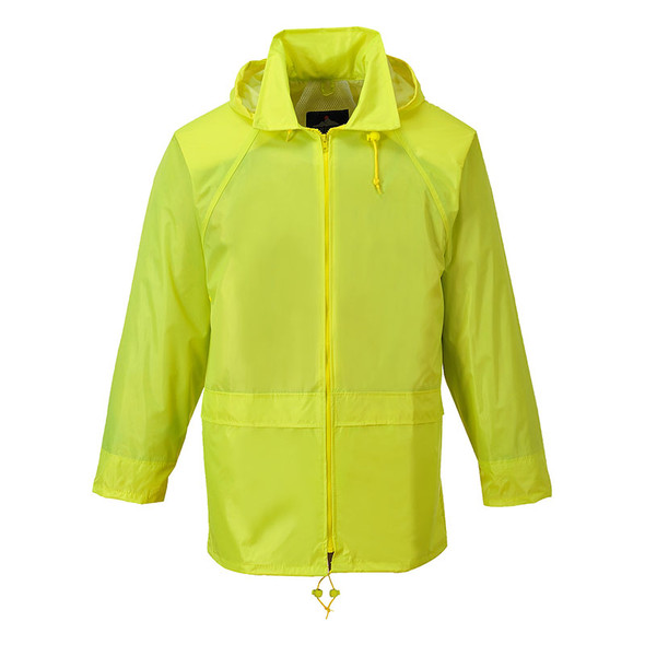 PortWest Non-ANSI Yellow Classic Rain Jacket US440YE Front