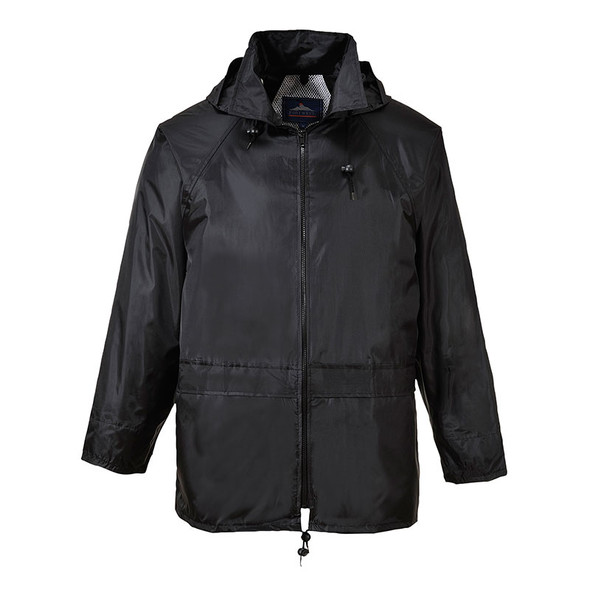 PortWest Black Classic Rain Jacket US440BK